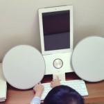 田丸麻紀のブログに載っているiPad周辺機器のスピーカーはデビット・ルイス・デザイナーズがデザインしたB&A社製のBeoplay A8 Airplay Portable Wireless Music System